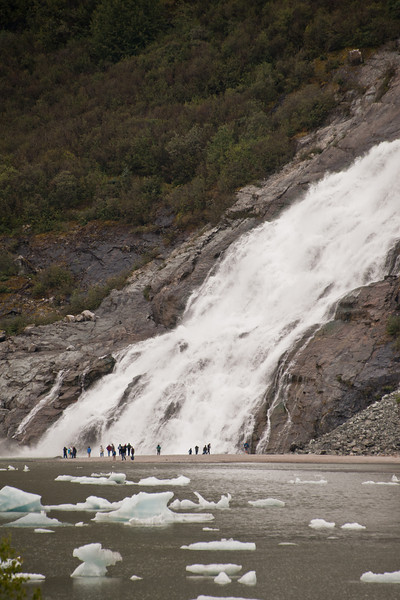 Seward glacier waterfall