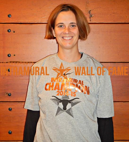 FALL RACQUETBALL Women's Singles Champion  Allison Kintz