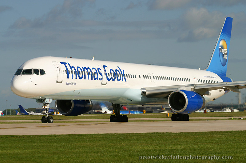 G-JMAB. Boeing 757-3CQ. Thomas Cook. Manchester. 100503.