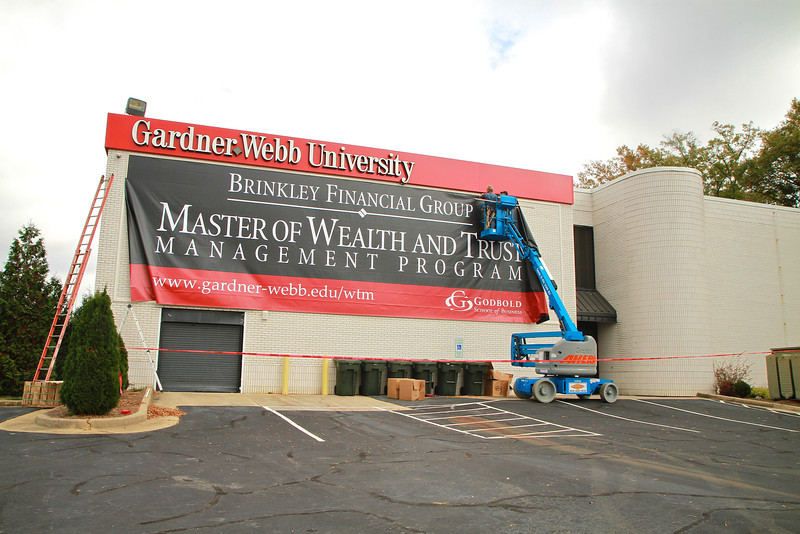 New setup at the GWU Charlotte Center, thanks to Brinkley Financial Group, after whom the Master of Wealth and Trust Management Program is named.