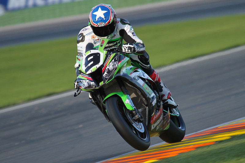 Kenny Noyes on his way to winning the 2014 CEV Superbike championship