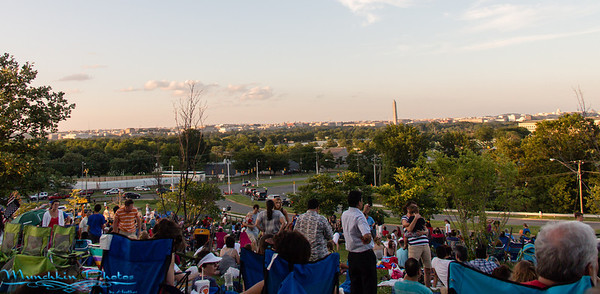 Fireworks from Air Force Memorial (July 4, 2013)