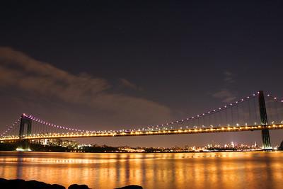 George Washington Bridge  Cancer Awareness Month  October 2014