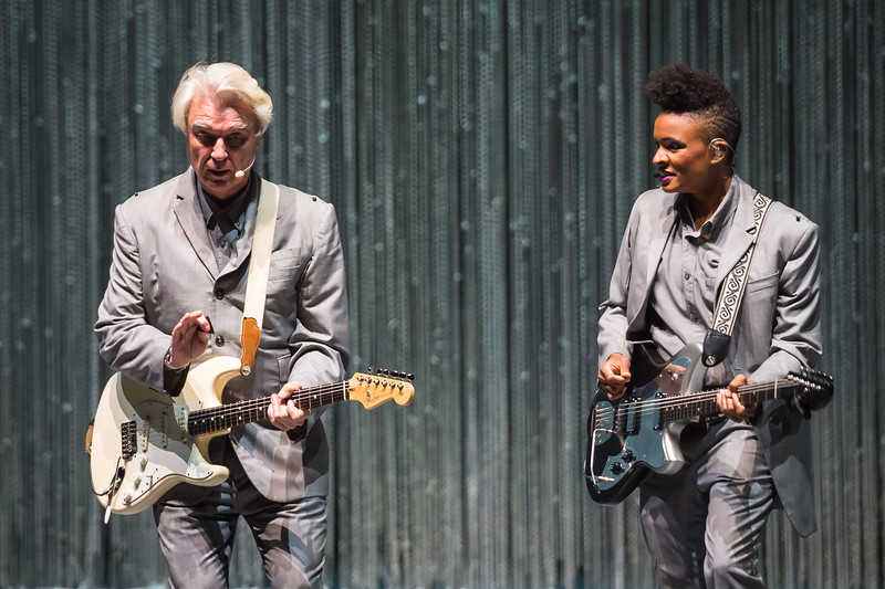 David Byrne and Angie Swan (R)