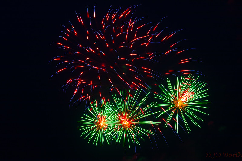 0705-0719 LOW Fireworks - Light Green Orange Center Urchins Trio and Red Blue Sparks-5348.jpg