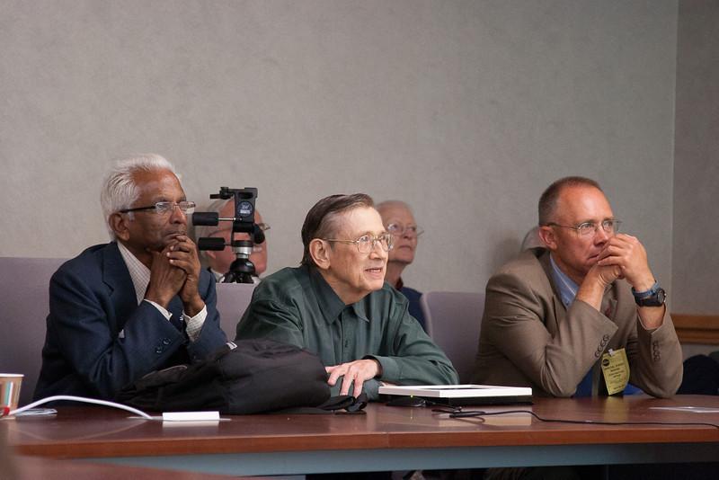 Alfred Stephens, Bob Streitmatter, Steve Stochaj  (in back, Don Righter and Bob Smith) -- Symposium in Honor of Bob Streitmatter, NASA/Goddard Space Flight Center, April 30, 2014