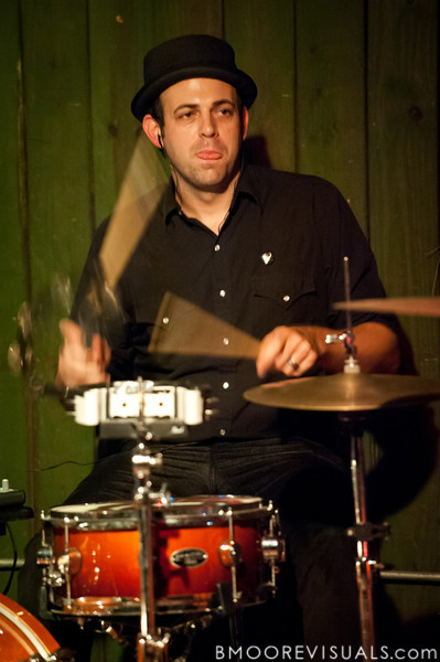 Dean Lorenz performs with MRENC on November 24, 2010 at New World Brewery in Ybor City, Tampa, Florida