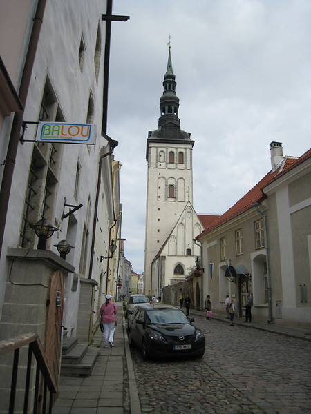 On the street on Tallinn - St Nichola's Church