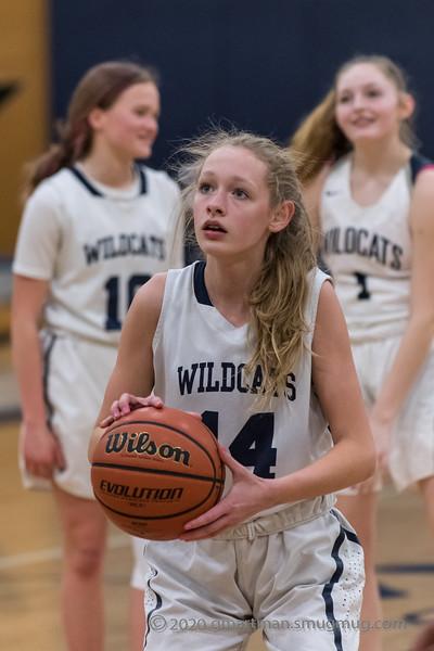 2020 Girls JV Basketball vs. Parkrose