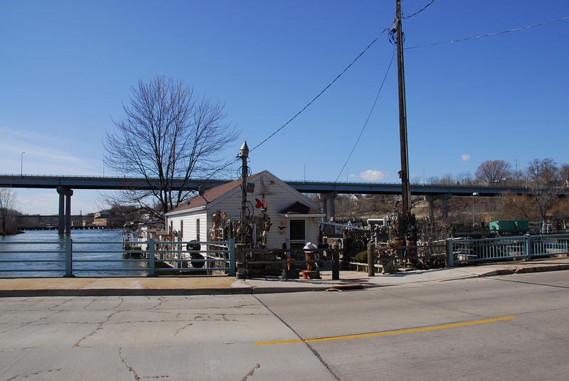 Port near Fox River in Appleton, Wisconsin
