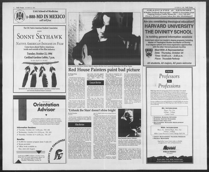 Daily Trojan, Vol. 129, No. 38, October 22, 1996