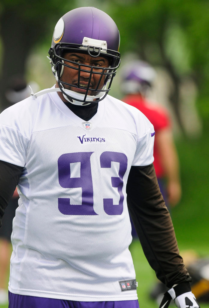 . Defensive tackle Kevin Williams works out at Winter Park on Wednesday. (Pioneer Press: Scott Takushi)