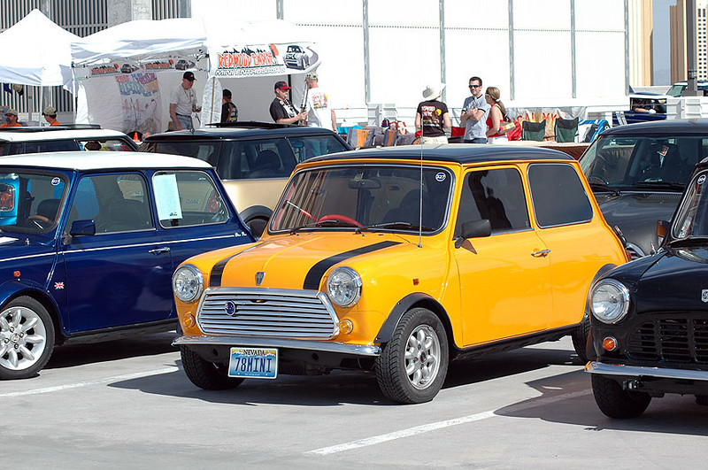 A right-hand steering Classic Mini.