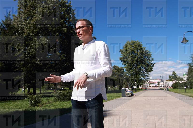14.08.17 Интервью с Табрисом Яруллиным ( фото : Михаил Захаров / ИА ТатарИнформ )
