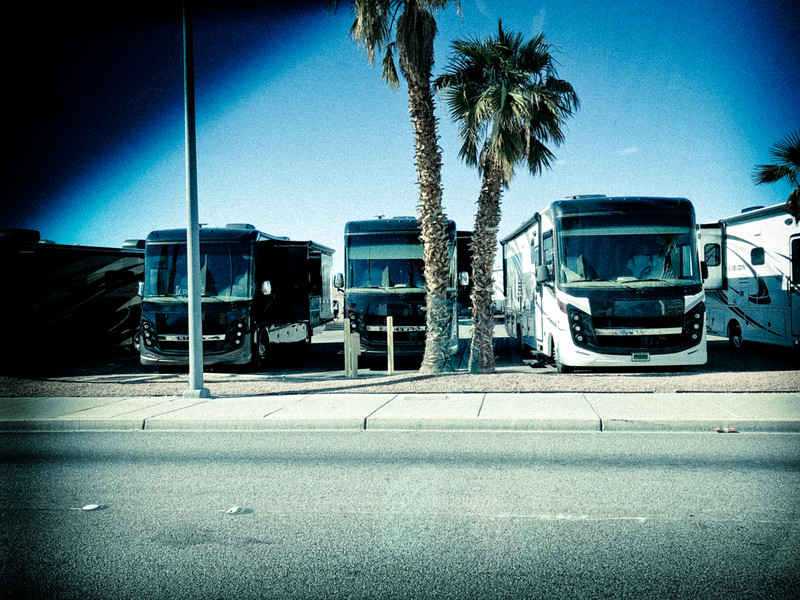 Plenty of RVs in Laughlin, AZ.