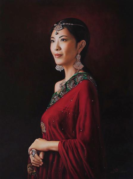 """Oriental Charm"" (oil) by Eric Li"