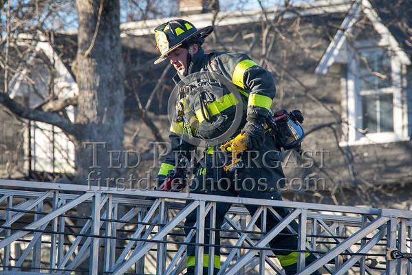 Lexington MA - Working Fire on Bedford St
