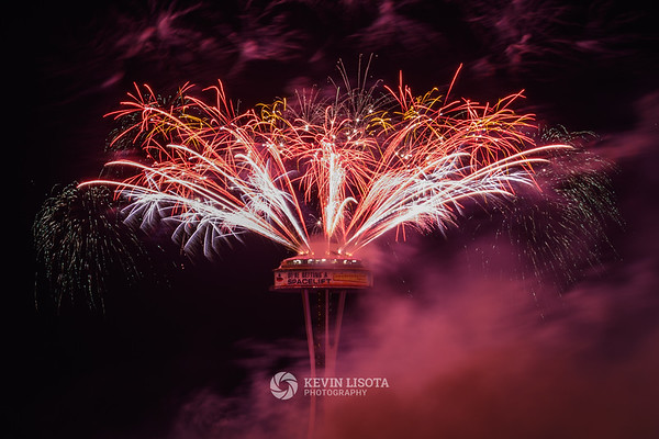 Space Needle New Year's Fireworks 2018