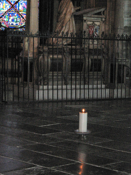 Site of Thomas-a-Becket's tomb, Canterbury Cathedral