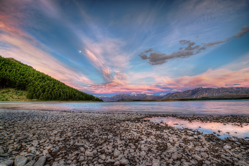 Sunset at Lake Tekapo
