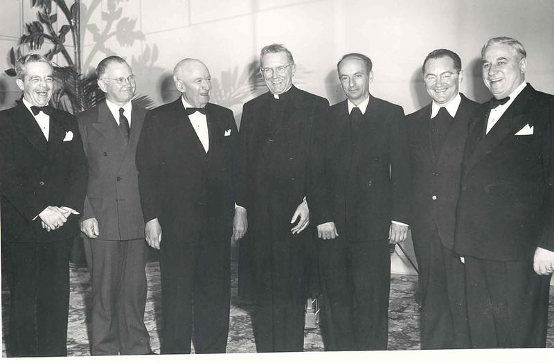 1948 Golden Jubilee Banquet (Brs. Alfred, Edwin and Cardinal.jpg
