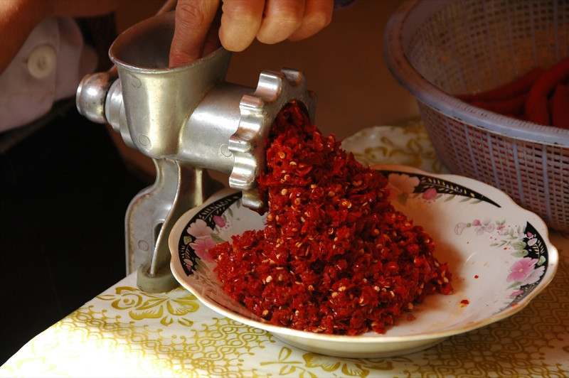 Ground Chili Peppers - Osh, Kyrgyzstan