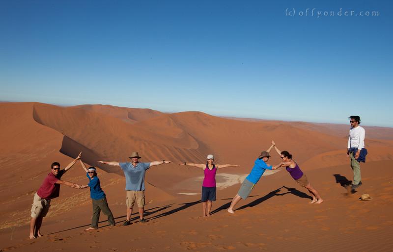Climbing Big Daddy Sand Dune, Namibia