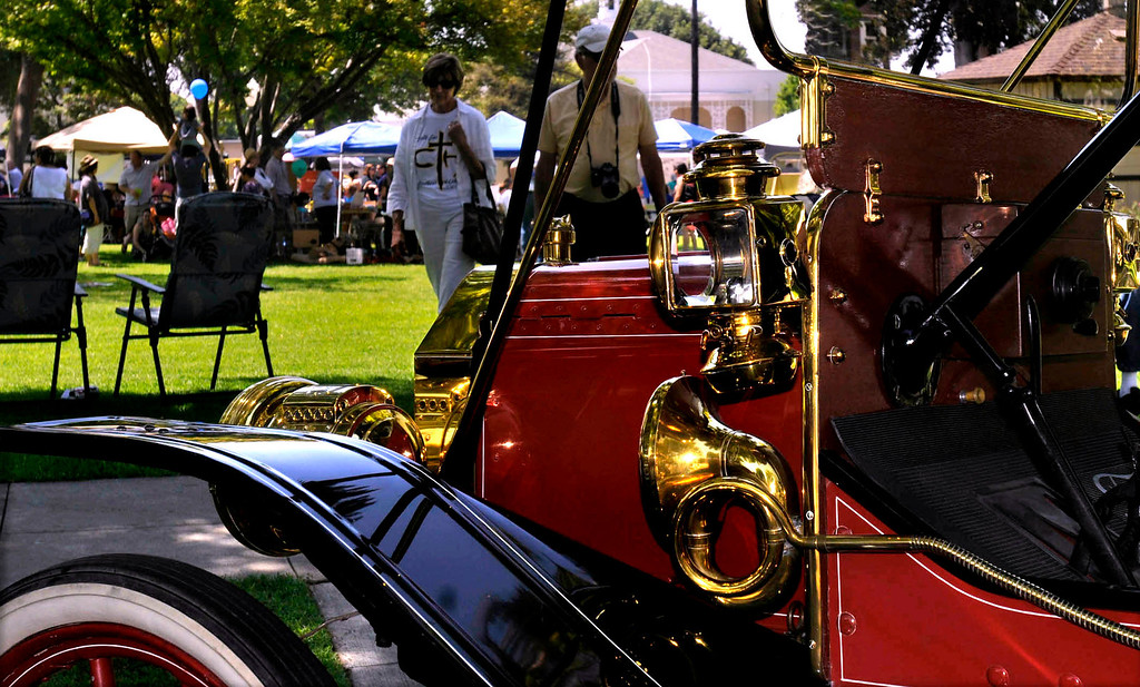 . Antique cars on display.  The 119th anniversary of the founding of Whittier was celebrated during Founders Day at Central Park in Uptown Whittier, Saturday, May 11, 2013.  (Mike Mullen)