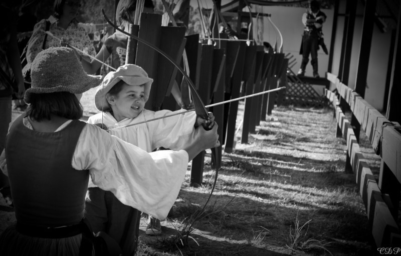 My little archer. I love him and I love that he has so much fun doing so many of the things I love.  Not bad for 2