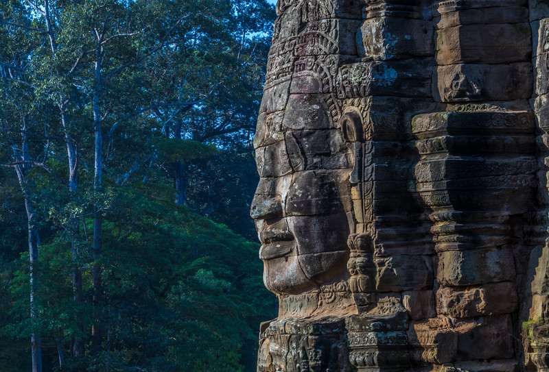 Bayon Temple in the jungle