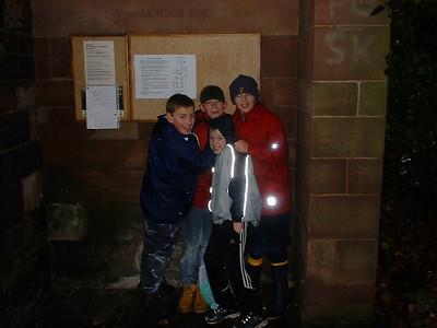 2003-11-29 Working in Wolstanton Churchyard