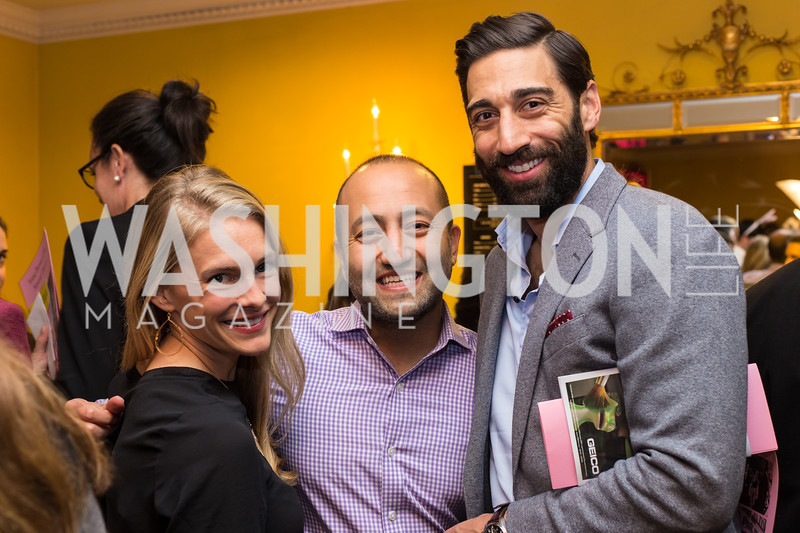 Emily Afzal, Vik Uberoi, Scott Afzal Young Patrons National Theatre Fundraiser November 30, 2017 Photo by Naku Mayo