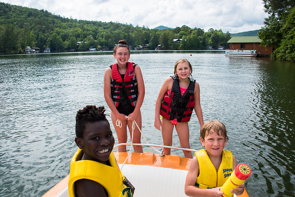 kids at Lake Rabun 060417