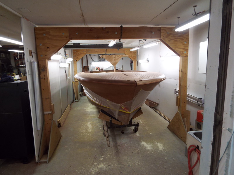 Boat moved into the finish room.