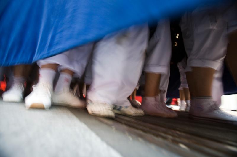 "The feet of ""costaleros"" or float bearers, Holy Week 2008, Seville, Spain"