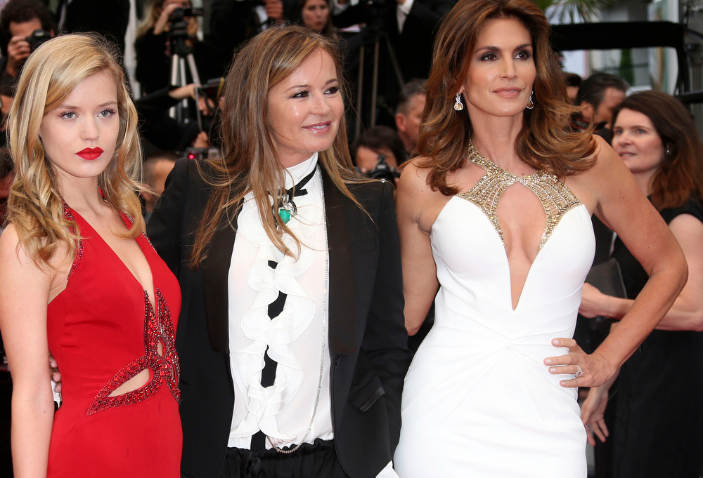 . Georgia May Jagger, Eva Cavalli and Cindy Crawford arrive for the opening ceremony and for the screening of The Great Gatsby at the 66th international film festival, in Cannes, southern France, Wednesday, May 15, 2013. (Photo by Joel Ryan/Invision/AP)