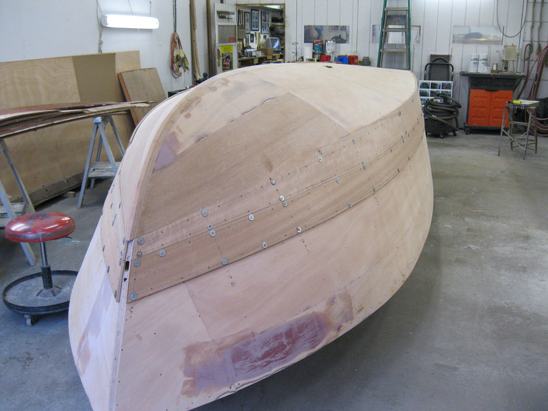Starboard front with second plank fit.