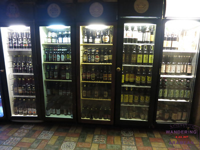 The full spread of beer coolers at Bambalyne.