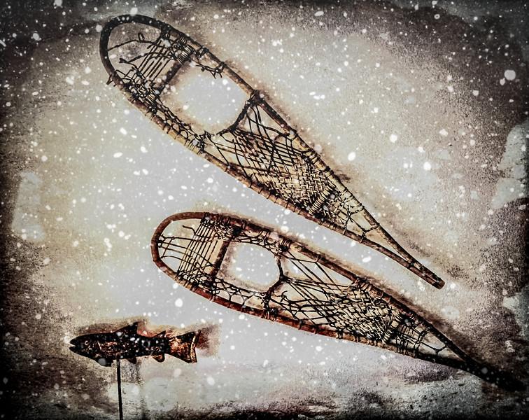 My old snowshoes go Steelheading