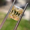 5.35ct Fancy Brownish Yellow Emerald Cut Diamond, GIA SI2 11