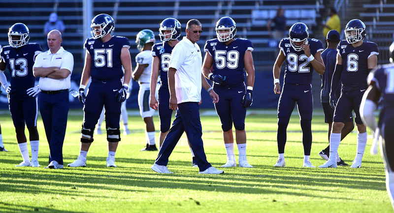 8/29/2019 Mike Orazzi   Staff UConn football Head Coach Randy Edsall during the season opening game with Wagner College on Thursday night.