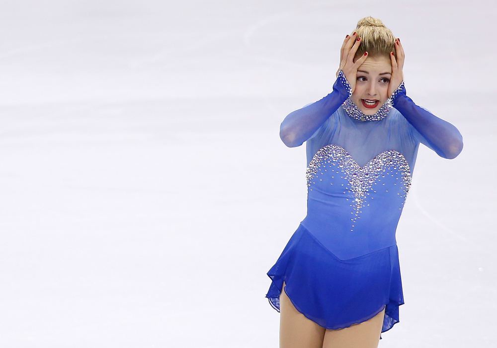 . Gracie Gold competes in the free skate program during the 2014 Prudential U.S. Figure Skating Championships at TD Garden on January 11, 2014 in Boston, Massachusetts.  (Photo by Jared Wickerham/Getty Images)