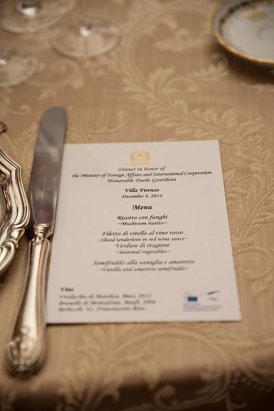 Minister Gentiloni Dinner