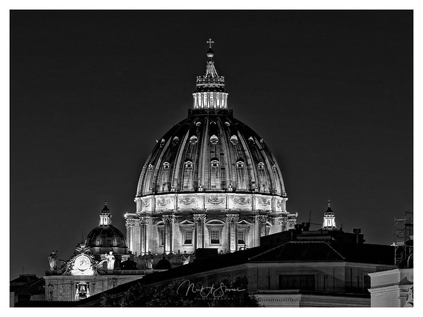 The dome of St Peters Basilica in the Vatica