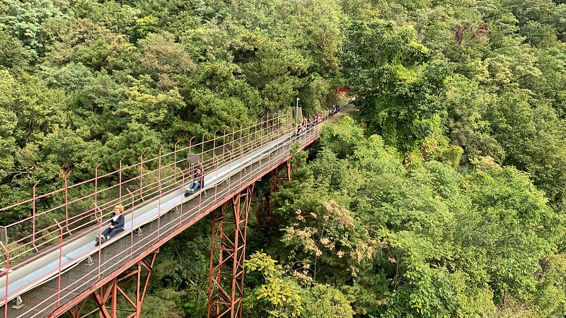 View of Toboggan Ride at Mutianyu