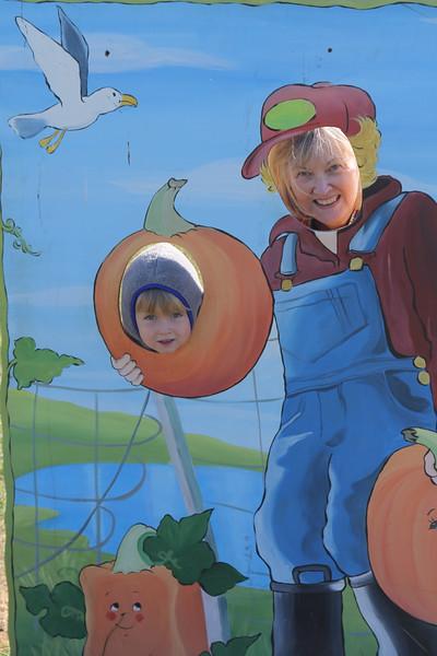 Elliot and Nana at the Eliada Corn maze