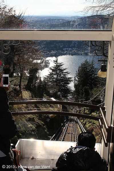 21 march 2013, Funicolare Como - Brunate. View on Lake Como.