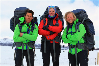Finalistene i 71 grader nord var Jose Cornejo, Caroline Skagestad og Andreas Våge (Foto TVNORGE)