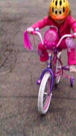 Maddie v. The Bike - March 2015