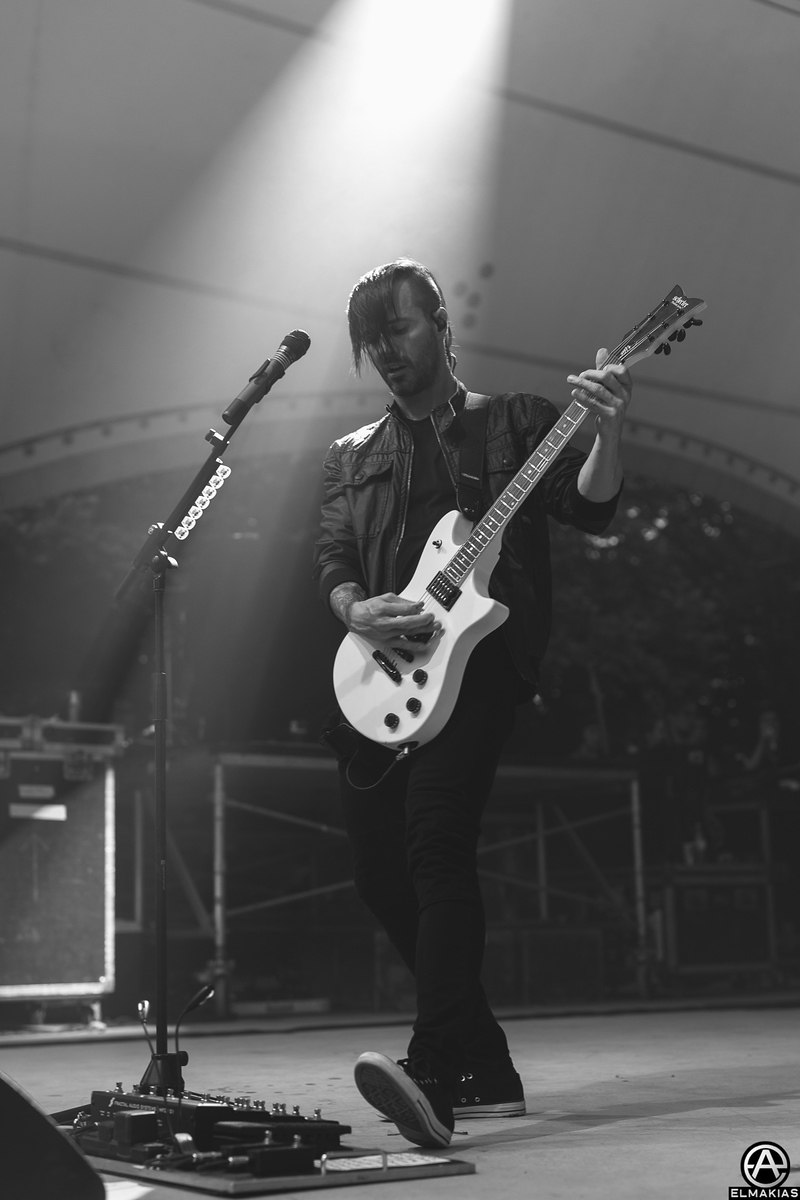 Jerry Horton of Papa Roach live at Rawk Attack in Germany - European Festivals